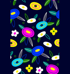 spring pattern with flowers summer background vector image