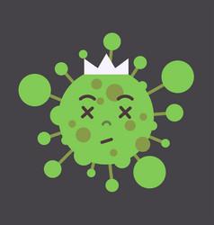 Stop coronavirus concept noel 2019-ncov green vector