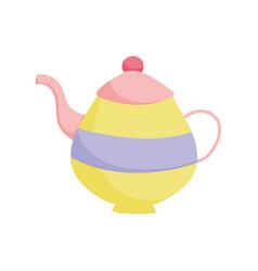 Teapot ceramic handle object icon vector