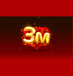 Thank you followers peoples 3m online social vector