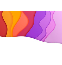 the colorful banner cover waves fluid shapes vector image