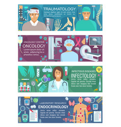 traumatology oncology infectiology endocrinology vector image