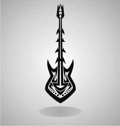 Tribal Guitar vector image vector image