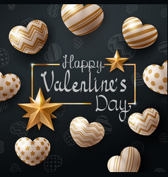 valentine day template heart and love vector image