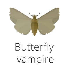 Vampire butterfly of Death vector