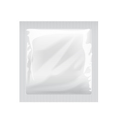 White blank template packaging with a condom wet vector