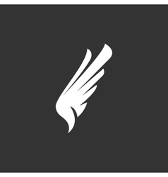 Wing icon logo element for template vector