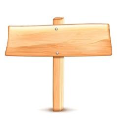 Wooden road sign vector