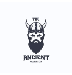 Ancient Warrior Abstract Logo Template vector image vector image