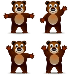 cute brown bear vector image vector image