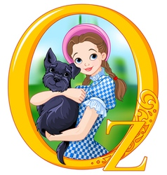 Dorothy and Toto vector image vector image