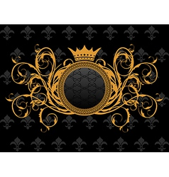 retro frame with heraldic crown - vector image vector image