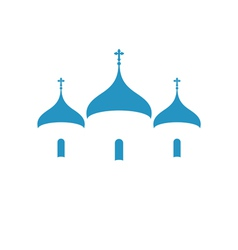 Russia Orthodox church Christianity vector image vector image