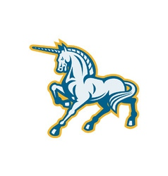 Unicorn Prancing Side View vector image vector image