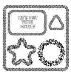 celtic knot patterns vector image