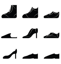 Collection of shoes vector