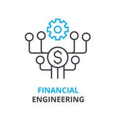 financial engineering concept outline icon vector image