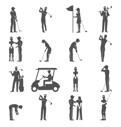 Golf People Black vector image