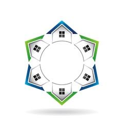 Houses Neighborhood Circle vector image vector image