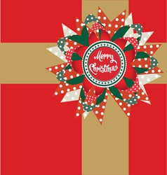 merry christmas post card vector image