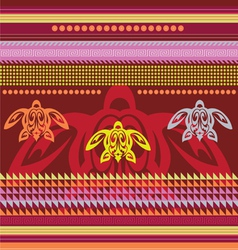 ornamental african style motive vector image vector image