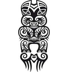 Taniwha tattoo design vector image vector image