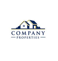 village house logo vector image