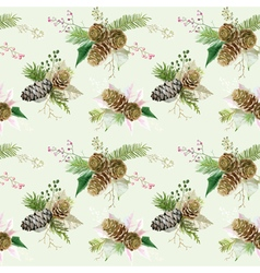 Vintage Christmas Background - Seamless Pattern vector image vector image