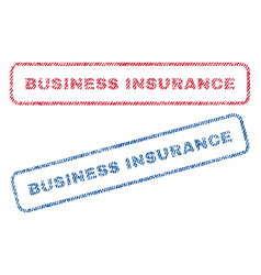 business insurance textile stamps vector image vector image