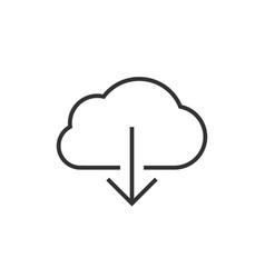 cloud data download vector image