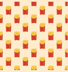 french fries - seamless pattern vector image vector image