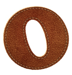 Leather textured letter O vector image