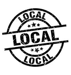local round grunge black stamp vector image