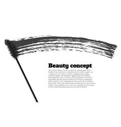 Mascara brush stroke beauty background vector image