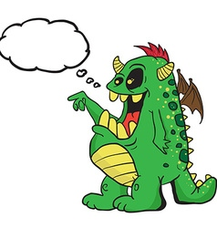 monster with thought bubble vector image vector image