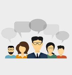 People talk concept vector