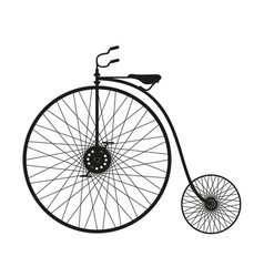 silhouette of vintage bicycle in black design vector image