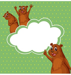 A stationery with three sealions vector image vector image