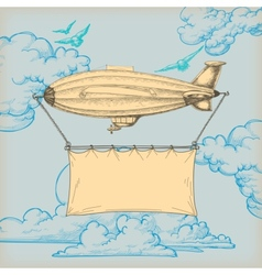 Blimp banner vector image vector image