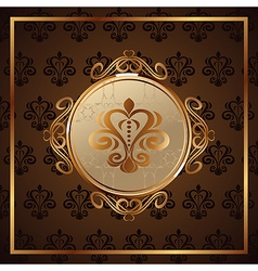 gold invitation frame or packing - vector image vector image
