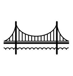golden gate bridge icon simple black style vector image