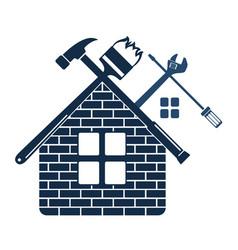repair and maintenance of home symbol vector image vector image