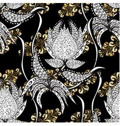 seamless classic golden pattern traditional vector image vector image