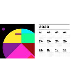 2020 new year calendar design template vector