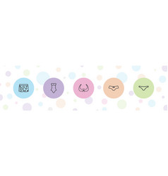 5 lingerie icons vector
