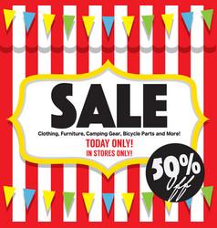 50 percent sale banner vector image