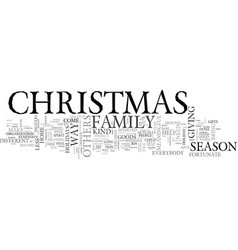 A different kind of christmas text word cloud vector