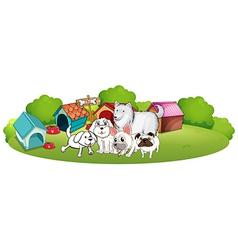 A group adorable dogs vector