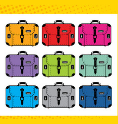 a set stickers for planner suitcases vector image