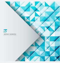abstract geometric pattern blue color triangles vector image